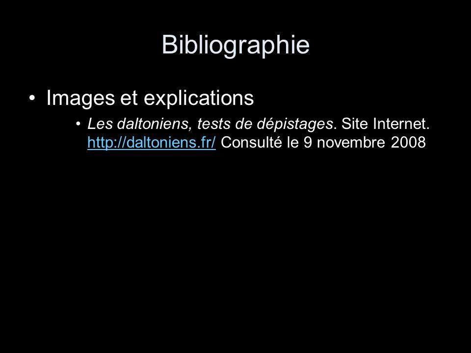 Bibliographie Images et explications