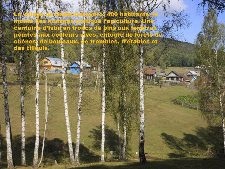 Le village de Gadel-Gareyéro, 400 habitants, la moitié des hommes pratique l'apiculture.