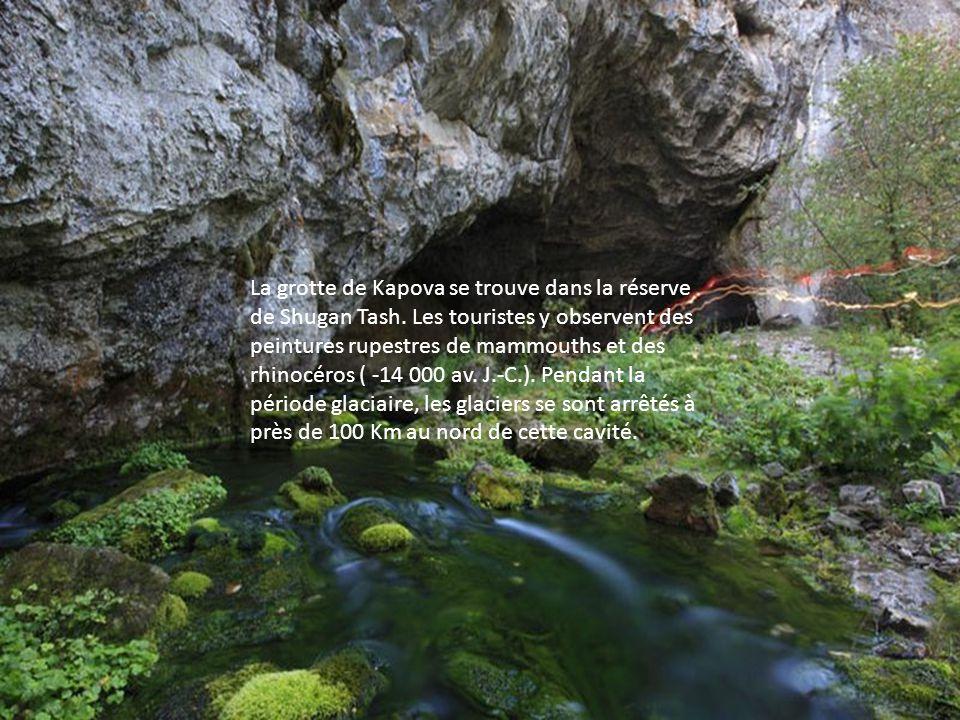 La grotte de Kapova se trouve dans la réserve de Shugan Tash