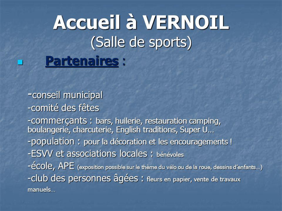 Accueil à VERNOIL (Salle de sports)