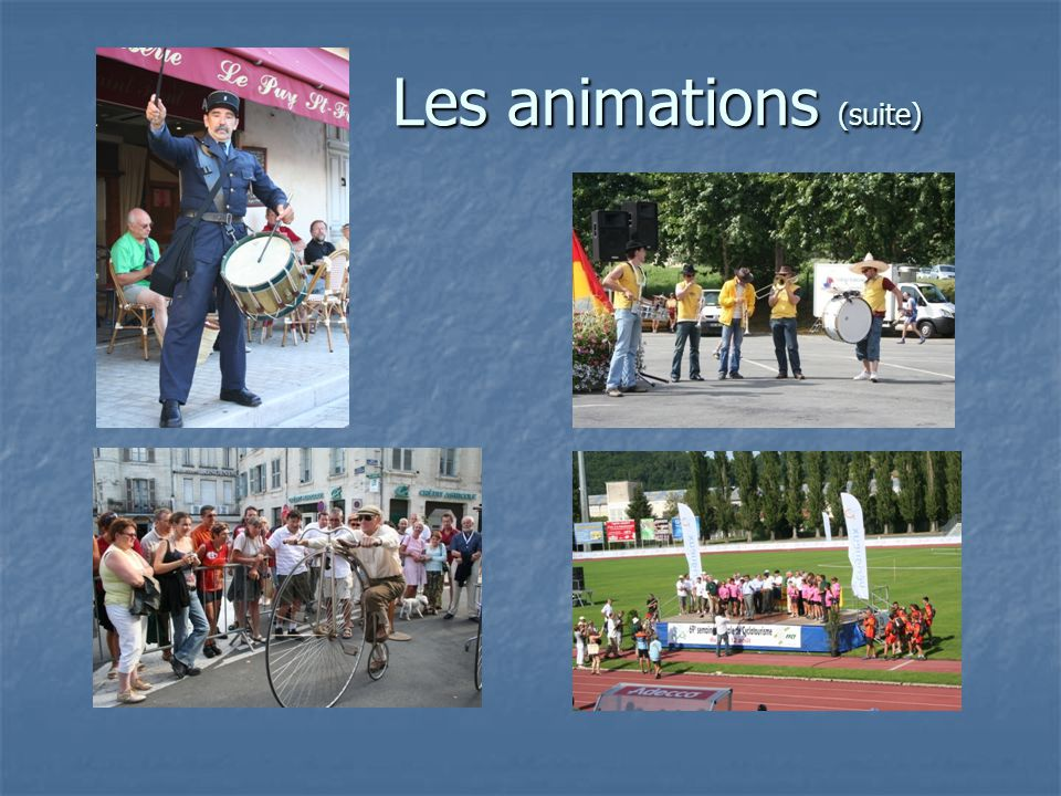 Les animations (suite)