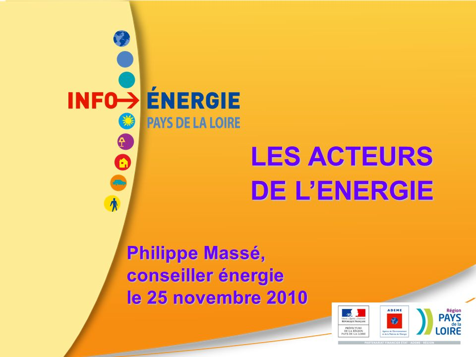 Philippe Massé, conseiller énergie le 25 novembre 2010