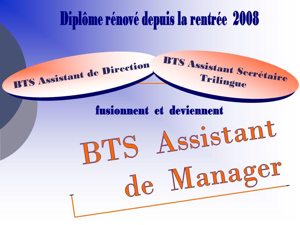 BTS Assistant de Manager BTS Assistant Secrétaire