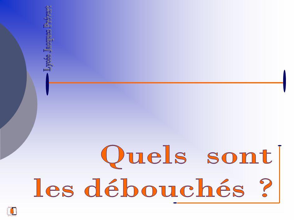 Lycée Jacques Prévert Quels sont les débouchés
