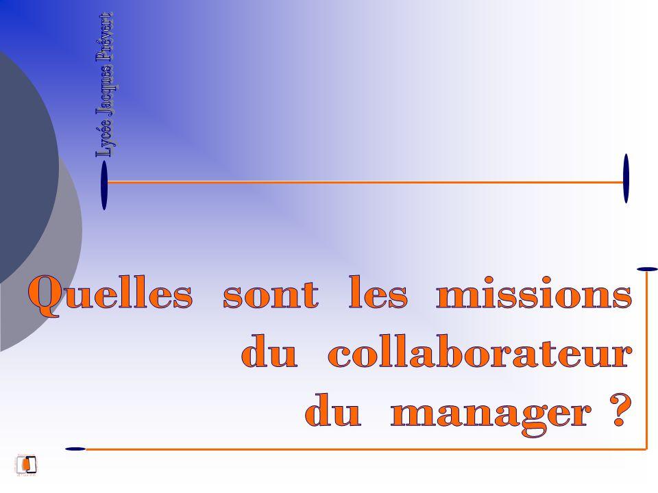 Quelles sont les missions du collaborateur du manager