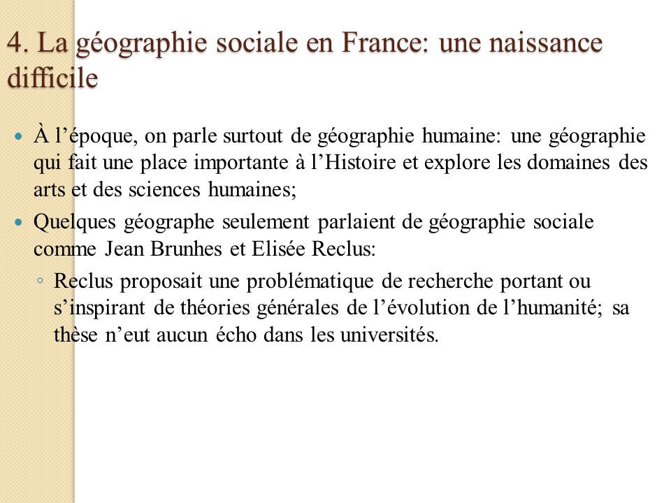 4. La géographie sociale en France: une naissance difficile