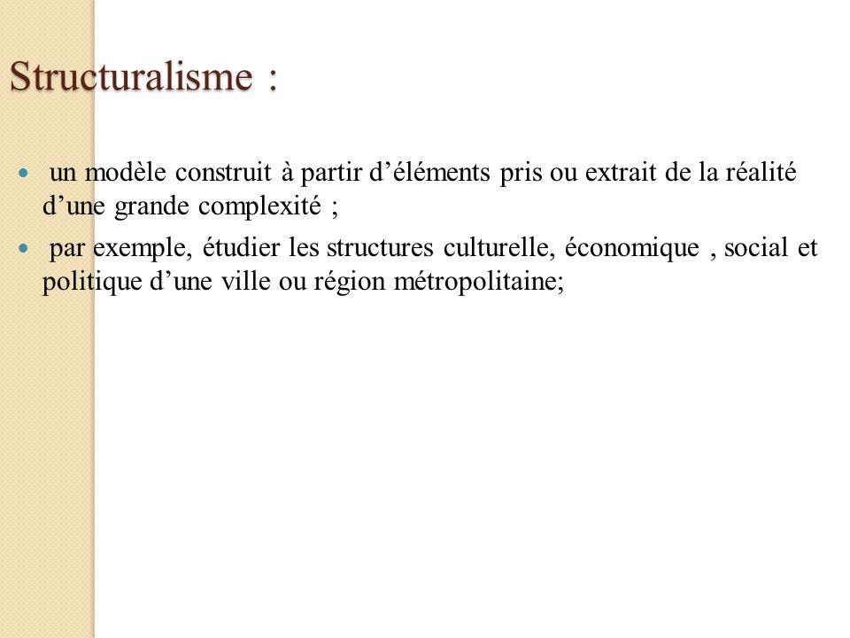 Structuralisme : un modèle construit à partir d'éléments pris ou extrait de la réalité d'une grande complexité ;