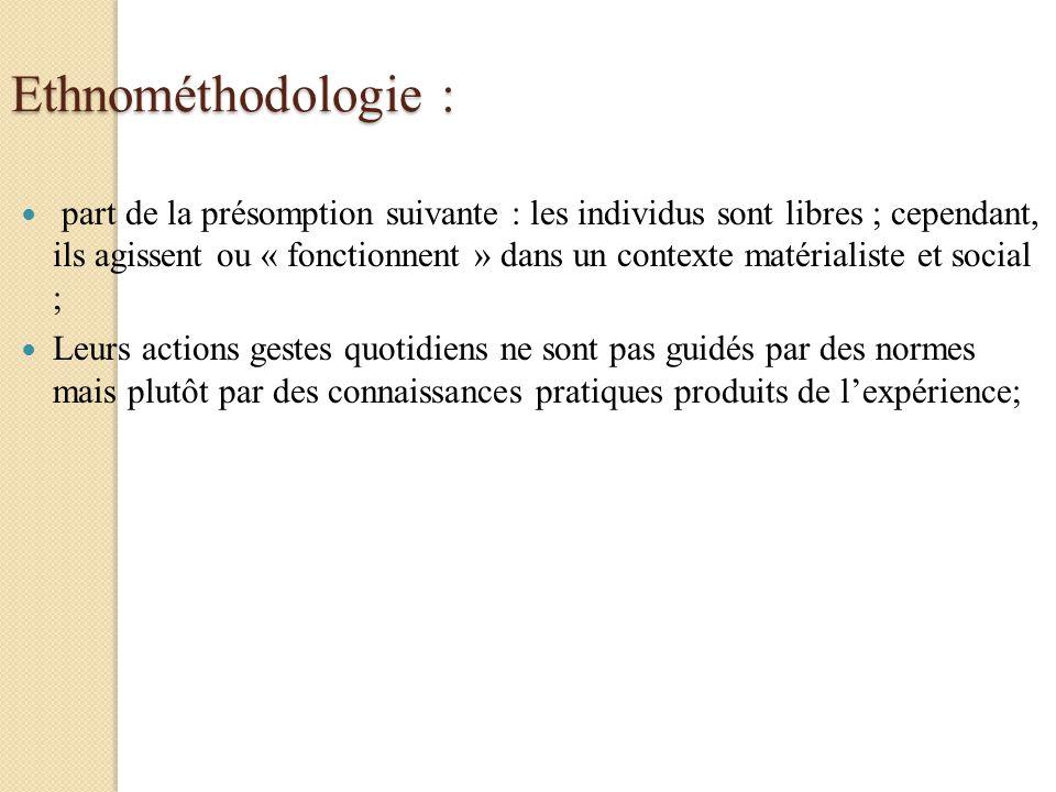 Ethnométhodologie :