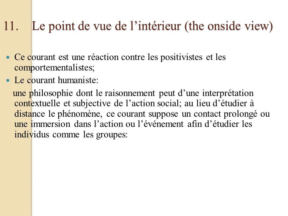11. Le point de vue de l'intérieur (the onside view)