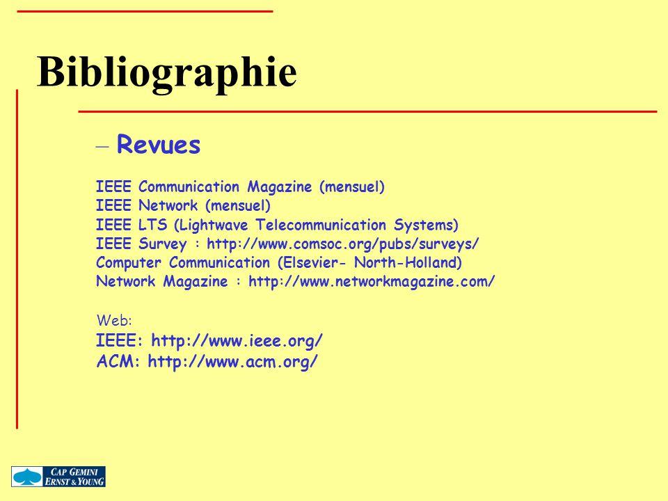 Bibliographie Revues IEEE: http://www.ieee.org/