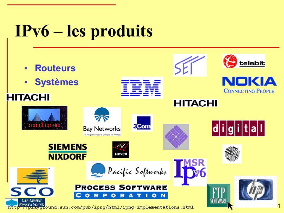 IPv6 – les produits Routeurs Systèmes 1