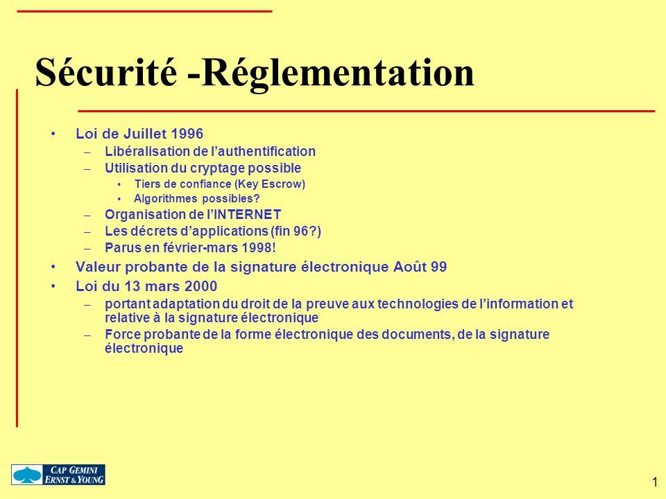 Sécurité -Réglementation