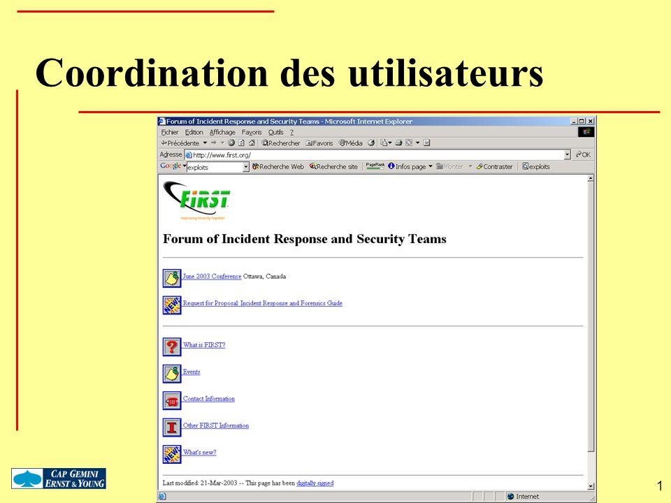 Coordination des utilisateurs