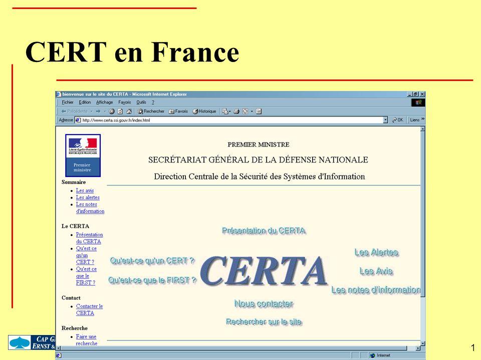 CERT en France 1