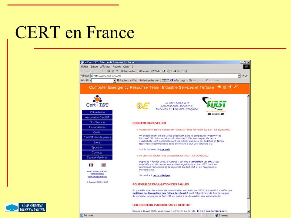 CERT en France