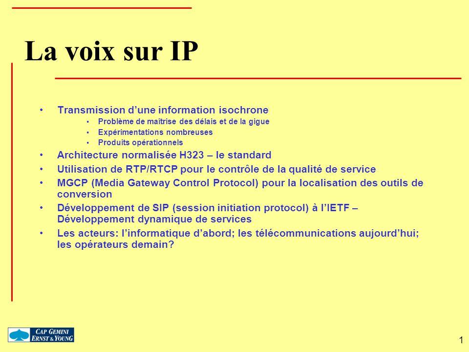 La voix sur IP Transmission d'une information isochrone