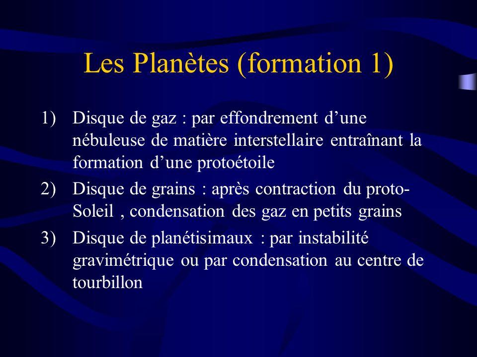 Les Planètes (formation 1)