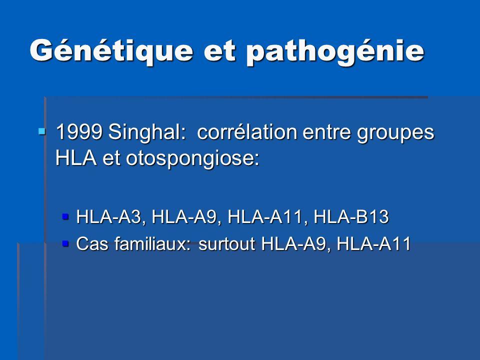 Génétique et pathogénie