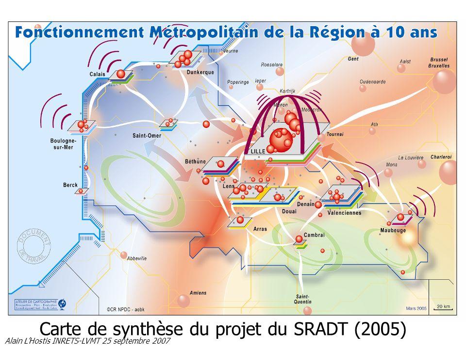 Carte de synthèse du projet du SRADT (2005)
