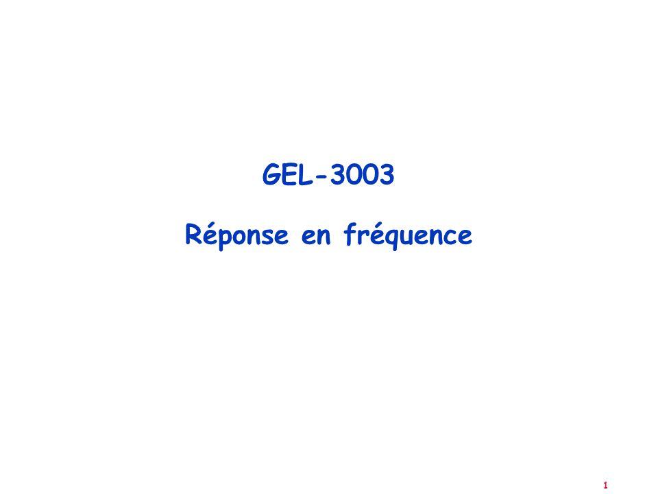 GEL-3003 Réponse en fréquence
