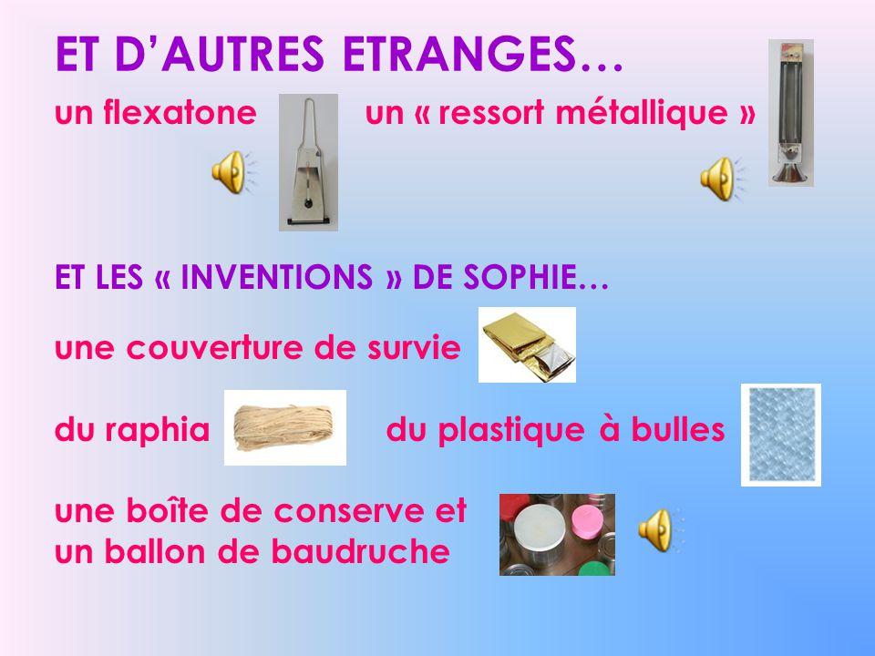 ET D'AUTRES ETRANGES… un flexatone un « ressort métallique »