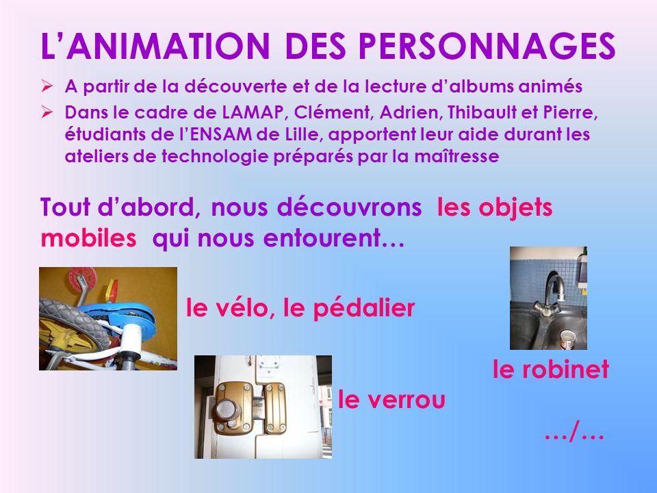 L'ANIMATION DES PERSONNAGES