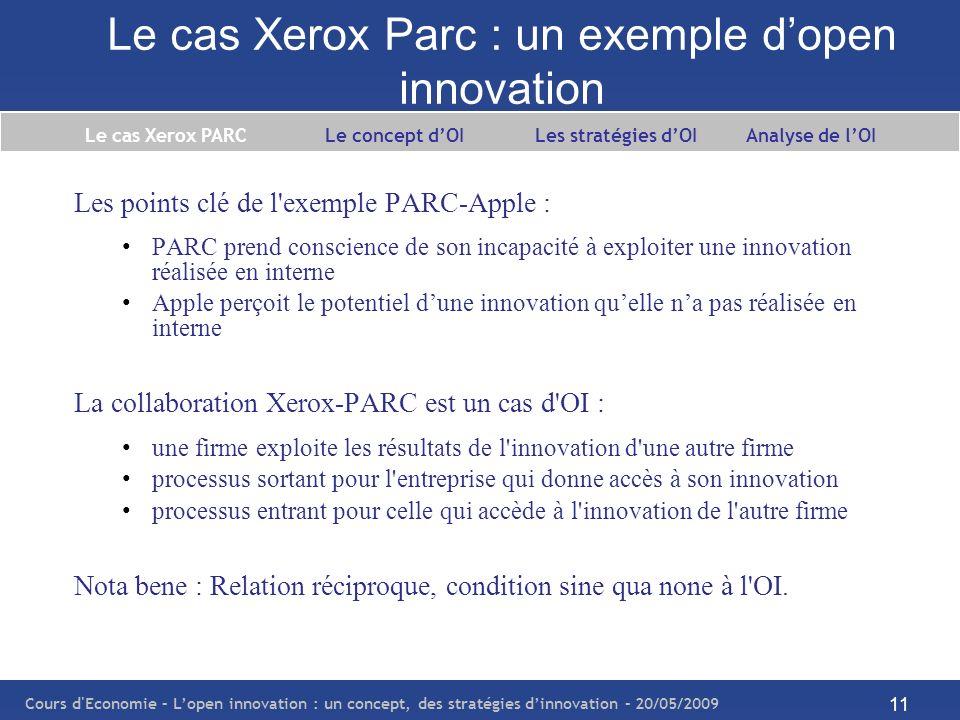 Le cas Xerox Parc : un exemple d'open innovation
