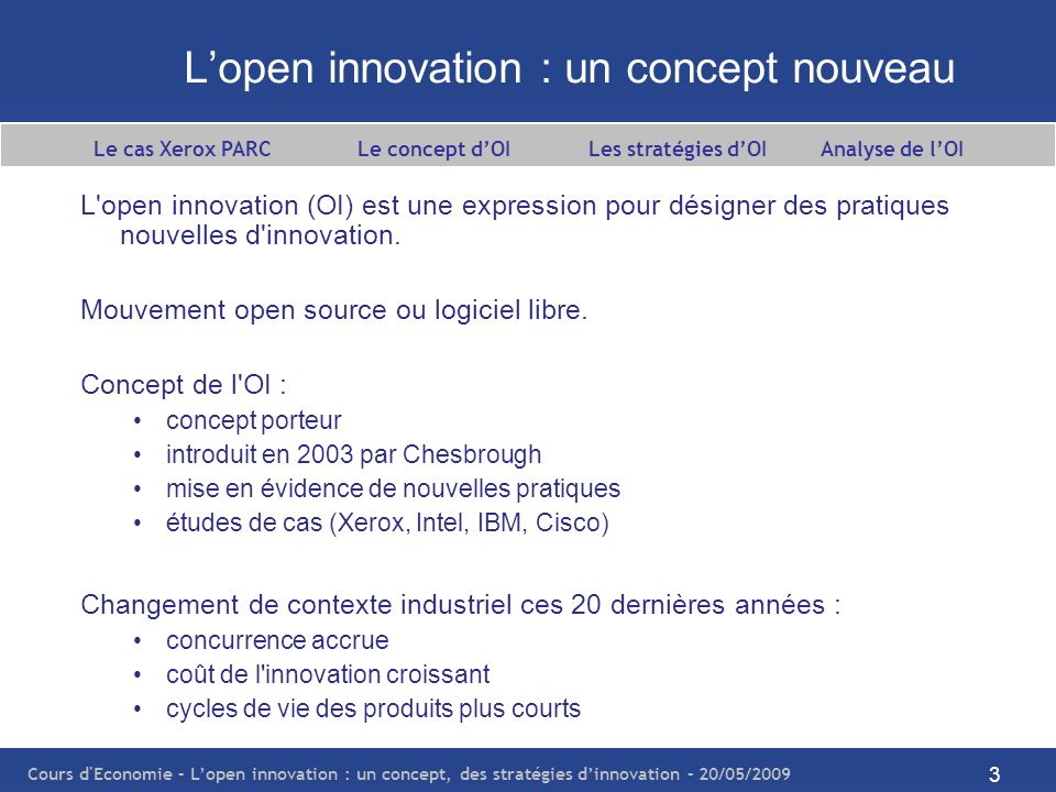 L'open innovation : un concept nouveau