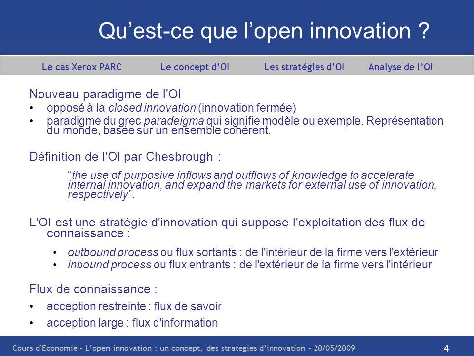 Qu'est-ce que l'open innovation