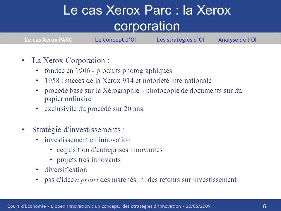 Le cas Xerox Parc : la Xerox corporation