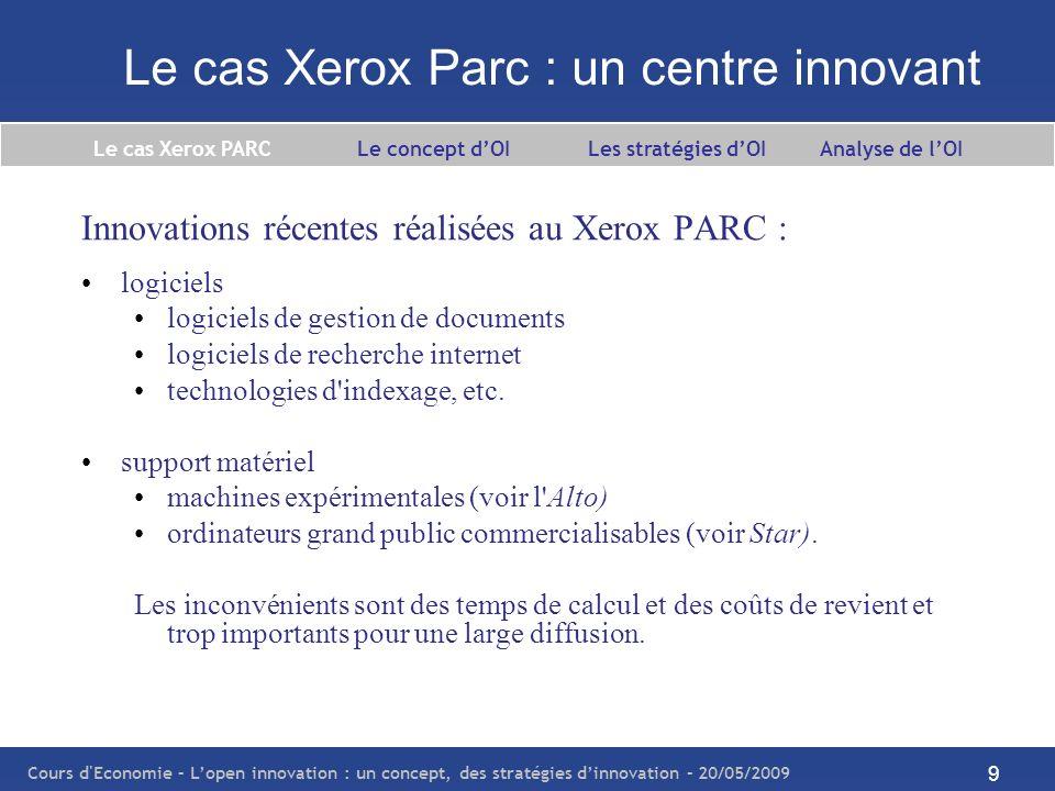 Le cas Xerox Parc : un centre innovant