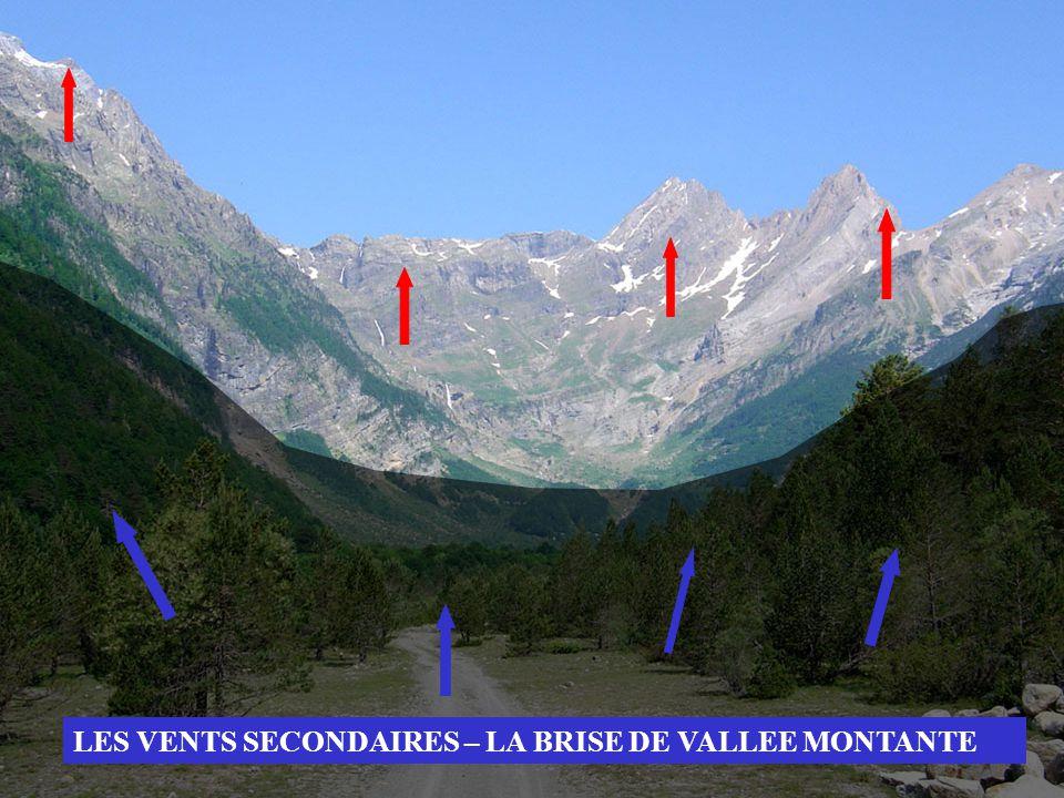 LES VENTS SECONDAIRES – LA BRISE DE VALLEE MONTANTE