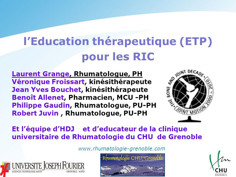 l'Education thérapeutique (ETP)