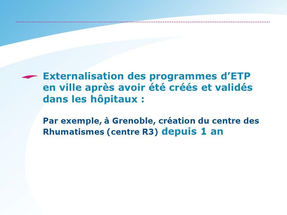 Externalisation des programmes d'ETP en ville après avoir été créés et validés dans les hôpitaux :