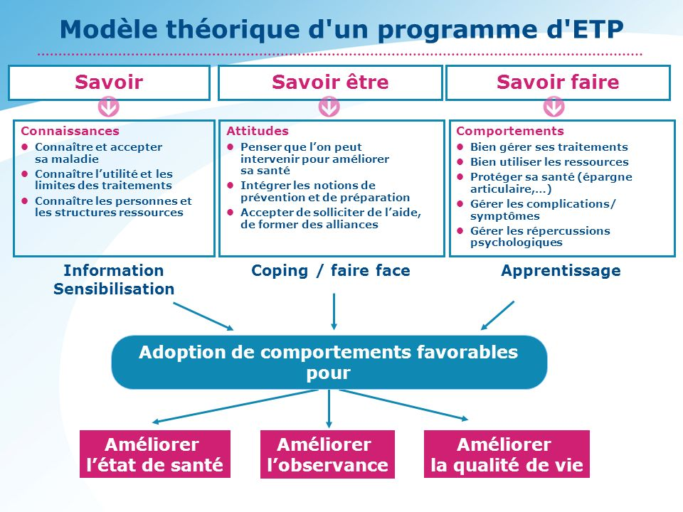 Modèle théorique d un programme d ETP