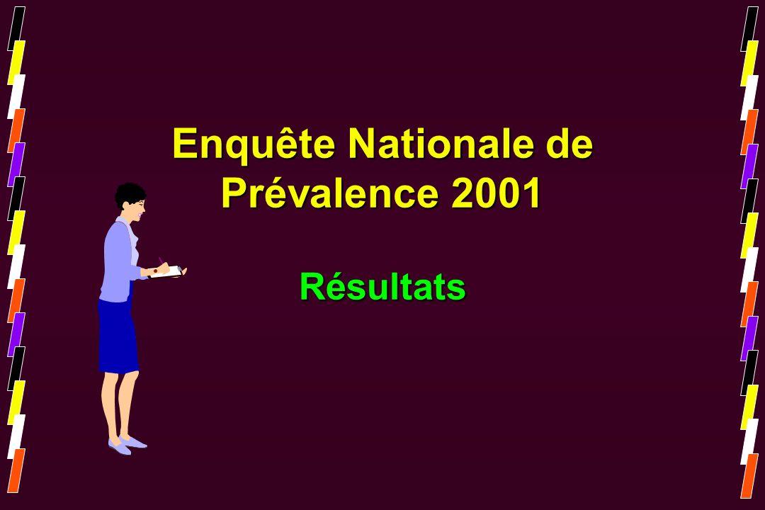 Enquête Nationale de Prévalence 2001 Résultats