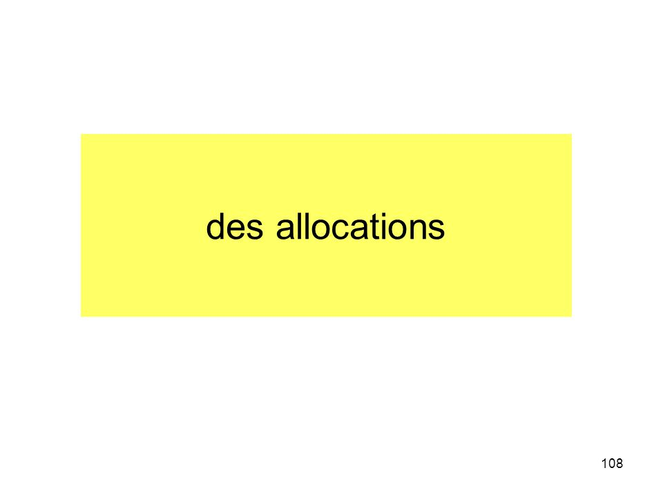 des allocations