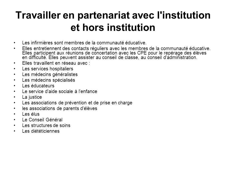 Travailler en partenariat avec l institution et hors institution