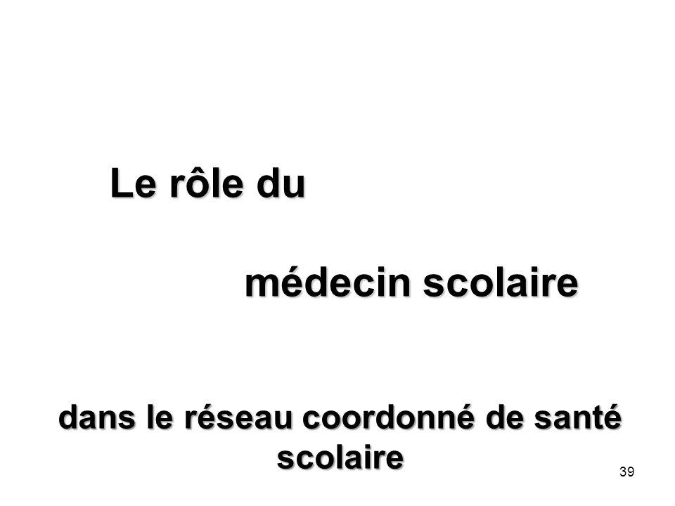 Le rôle du médecin scolaire