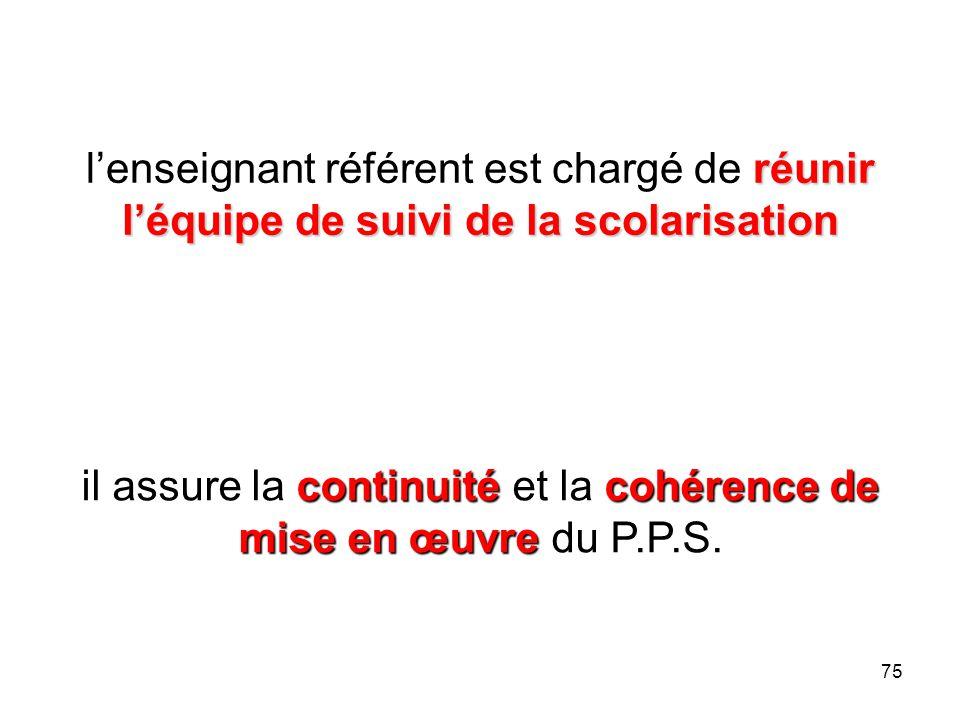 il assure la continuité et la cohérence de mise en œuvre du P.P.S.