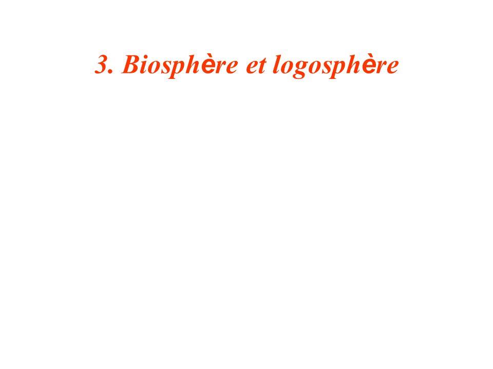 3. Biosphère et logosphère