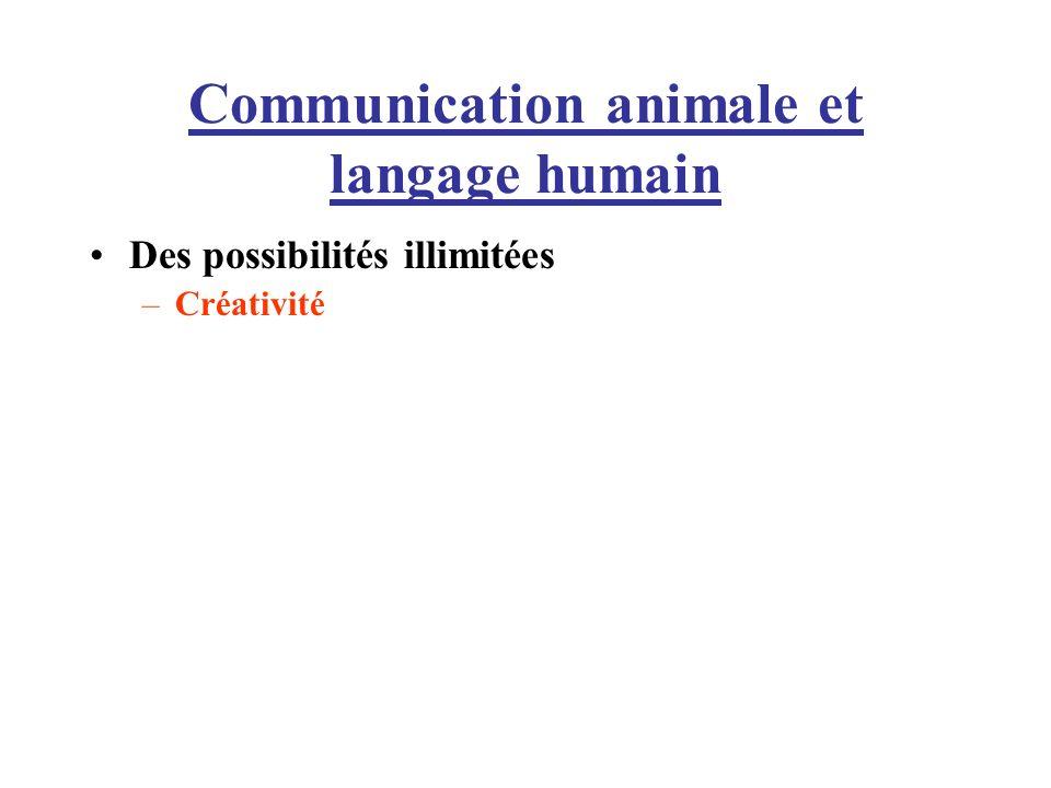 Communication animale et langage humain