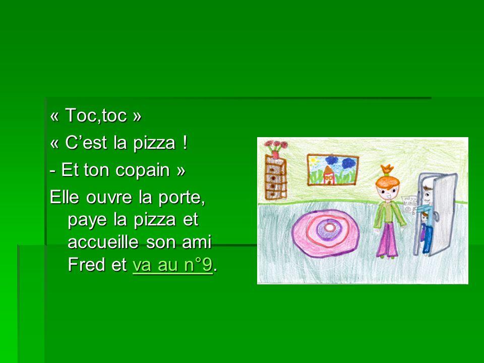 « Toc,toc » « C'est la pizza .