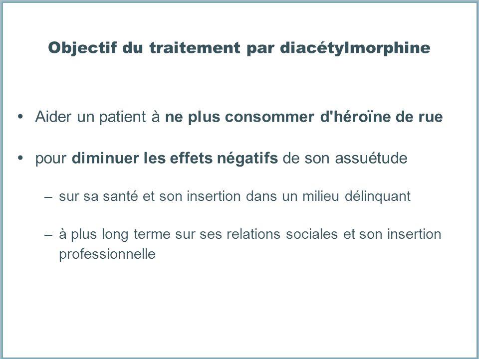 Objectif du traitement par diacétylmorphine