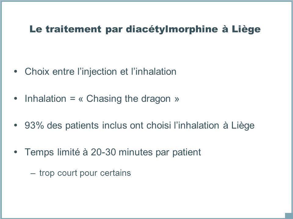 Le traitement par diacétylmorphine à Liège