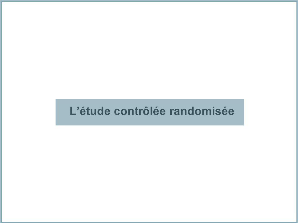 L'étude contrôlée randomisée