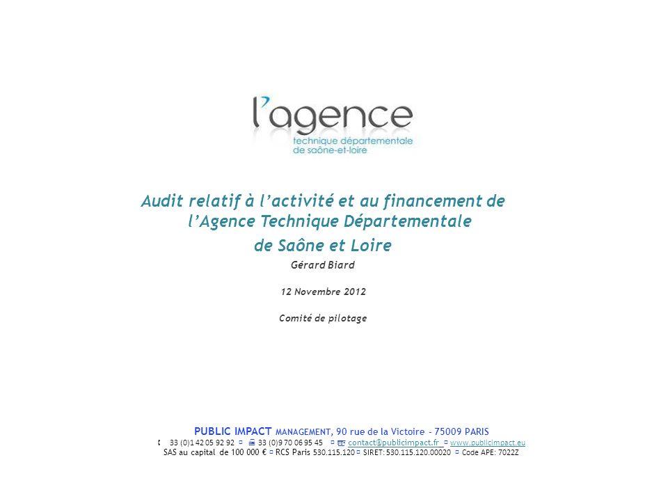 Audit relatif à l'activité et au financement de l'Agence Technique Départementale de Saône et Loire
