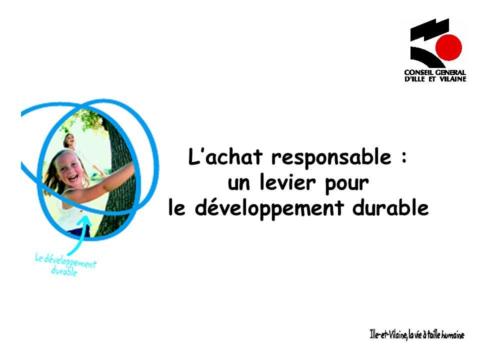L'achat responsable : un levier pour le développement durable