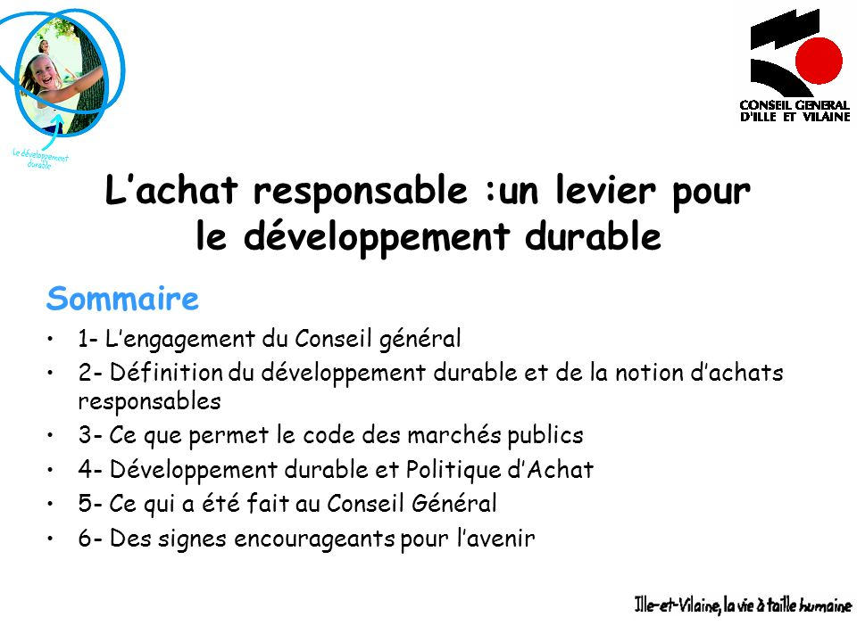 L'achat responsable :un levier pour le développement durable