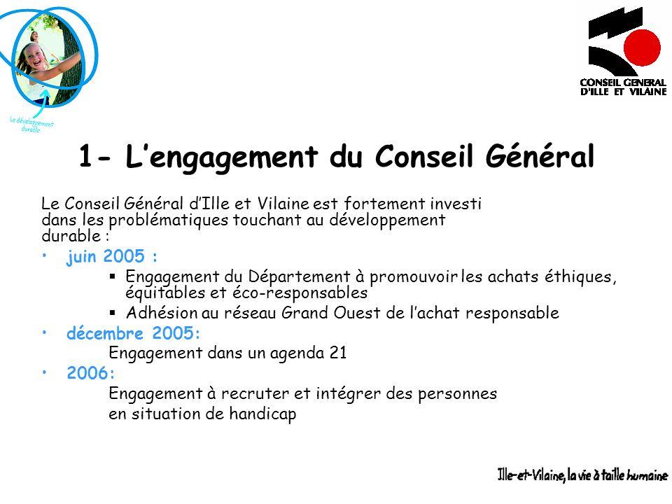 1- L'engagement du Conseil Général